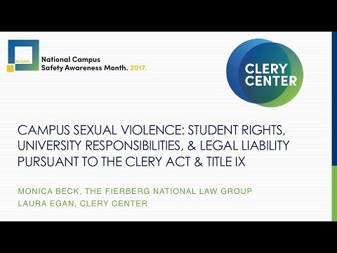 NCSAM Series - Campus Sexual Violence: Clery Act & Title IX