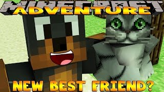 Minecraft - Donut the Dog Adventures -MY NEW BEST FRIEND IS A CAT!!