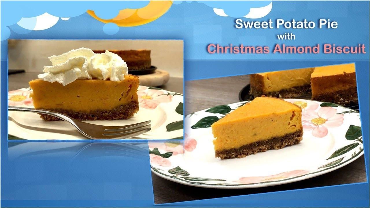 Sweet Potato Pie With Spekulatius Christmas Almond Biscuit