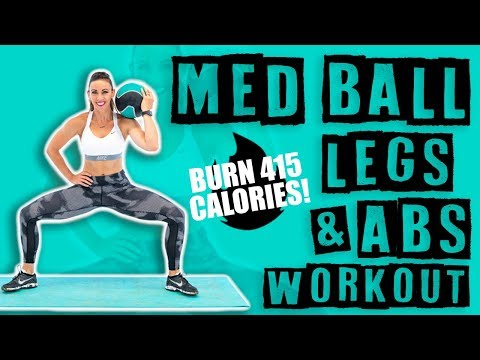 Medicine Ball Legs & Abs Workout ��Burn 415 Calories! ��