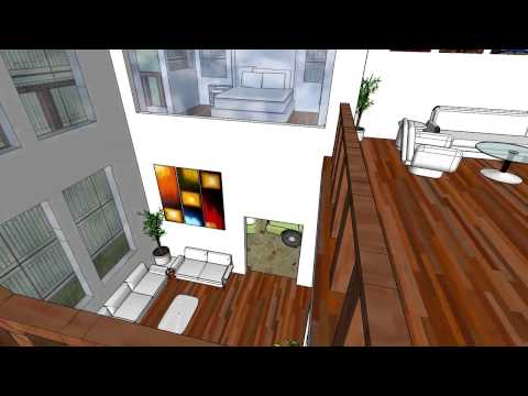 LOFT STYLE HOUSE DESIGN VERSION 2 -Sketchup Model by Chidanand Sekar