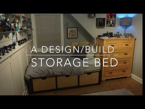 Industrial Design - Build Custom Storage Bed - Using steel tubing frame and plywood