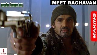 Main Hoon Na   Making   Suneil Shetty as Raghavan   Shah Rukh Khan   A Film by Farah Khan