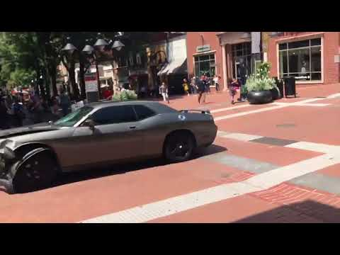 crowd of Protesters run over by car 1 dead Charlottesville VA rally protest 8/12/17 hit by car