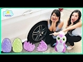 CARELESS PRINCESS Crushes Toy Hatchimal Under Car Accidents Will Happen Prank Princess ToysReview