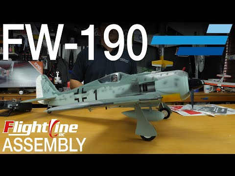 FlightLine FW-190 V2 1120mm - Unboxing & Assembly - Motion RC