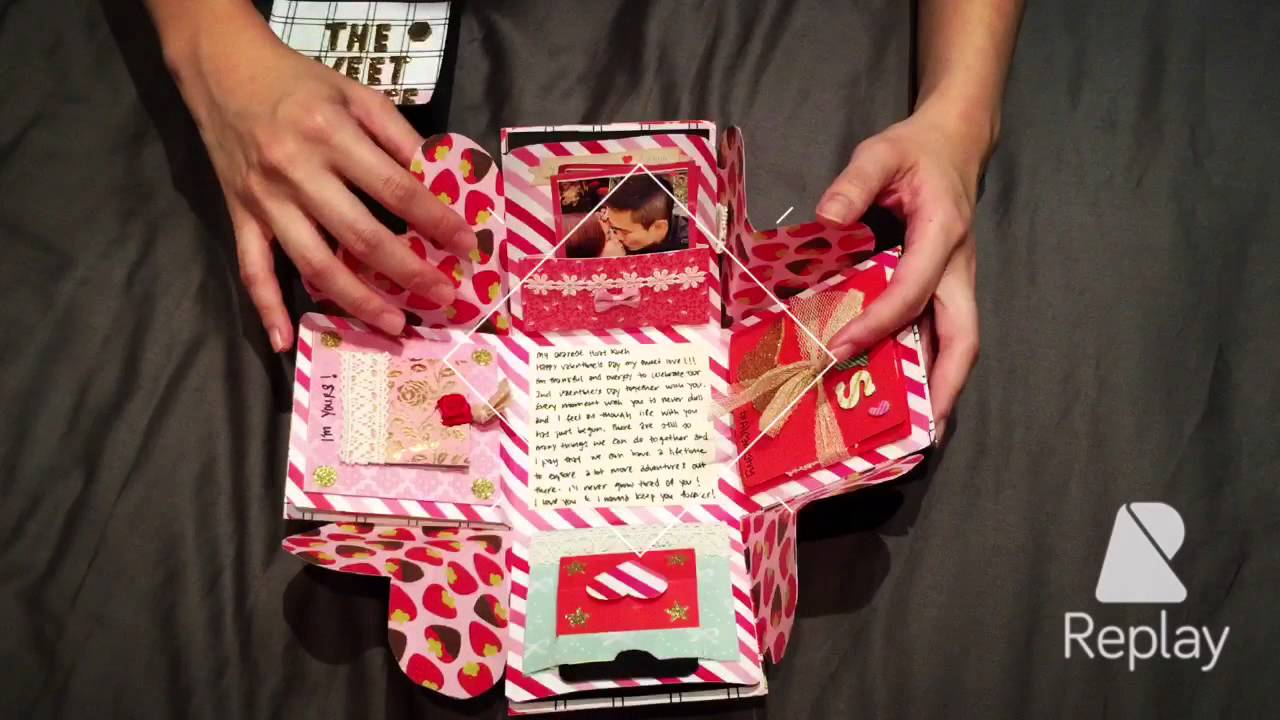 Valentine S Day Exploding Box Card Youtube