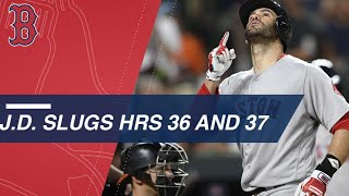 J.D. Martinez slugs 2 more homers, 37 for the season
