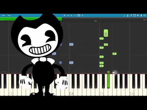 Bendy And The Ink Machine Song - The Dancing Demon - TryHardNinja - Piano Tutorial