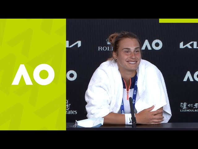 "Aryna Sabalenka: ""There are some things to work on"" press conference (4R) 