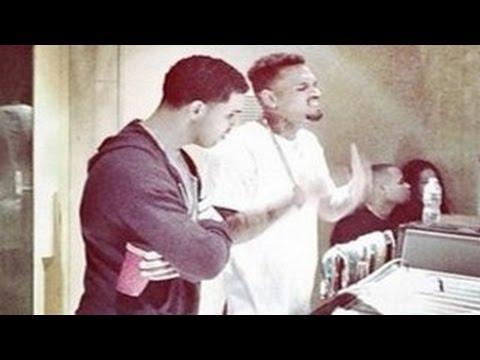 Chris Brown Crashes Drake's ESPYs 2014 Hosting -- Rihanna's Exes Become Friends