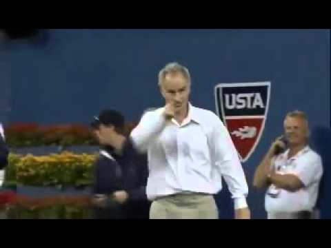 Djokovic imitates McEnroe at US Open