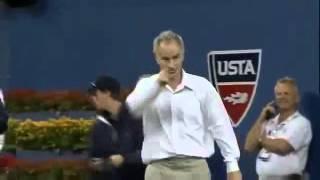 Djokovic imitates McEnroe at US Open