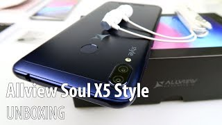 Allview Soul X5 Style Unboxing in English (Elegant Midrange Phone With 4000 mah Battery)