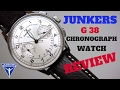 (4K) JUNKERS G-38 CHRONOGRAPH MEN'S PILOT WATCH REVIEW