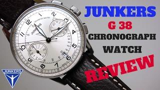 (4K) JUNKERS G-38 CHRONOGRAPH MEN'S PILOT WATCH REVIEW