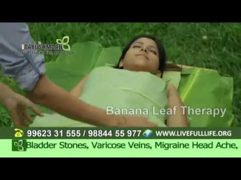 Banana leaf therapy for kidney problems, toxin AAYUSHMAAN INDIA'S BEST NATURE CURE HEALTH CENTRE