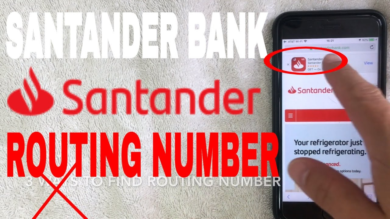 Santander Bank Aba Routing Number Where Is It Youtube