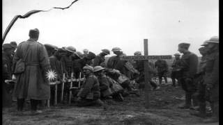 US 27th Infantry bury their fallen at Duncan Post during 2nd Battle of the Somme,...HD Stock Footage