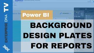 إنشاء خلفية تصميم لوحات الطاقة الخاصة بك ثنائية التقارير
