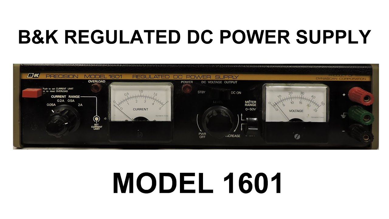 Bk Regulated Dc Power Supply Model 1601 Bench Top 30v 10amp Construction Photos