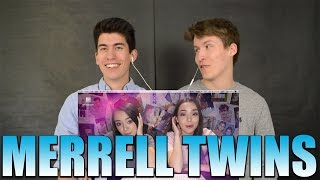 Reacting to INTERNET CRUSH SONG - Merrell Twins