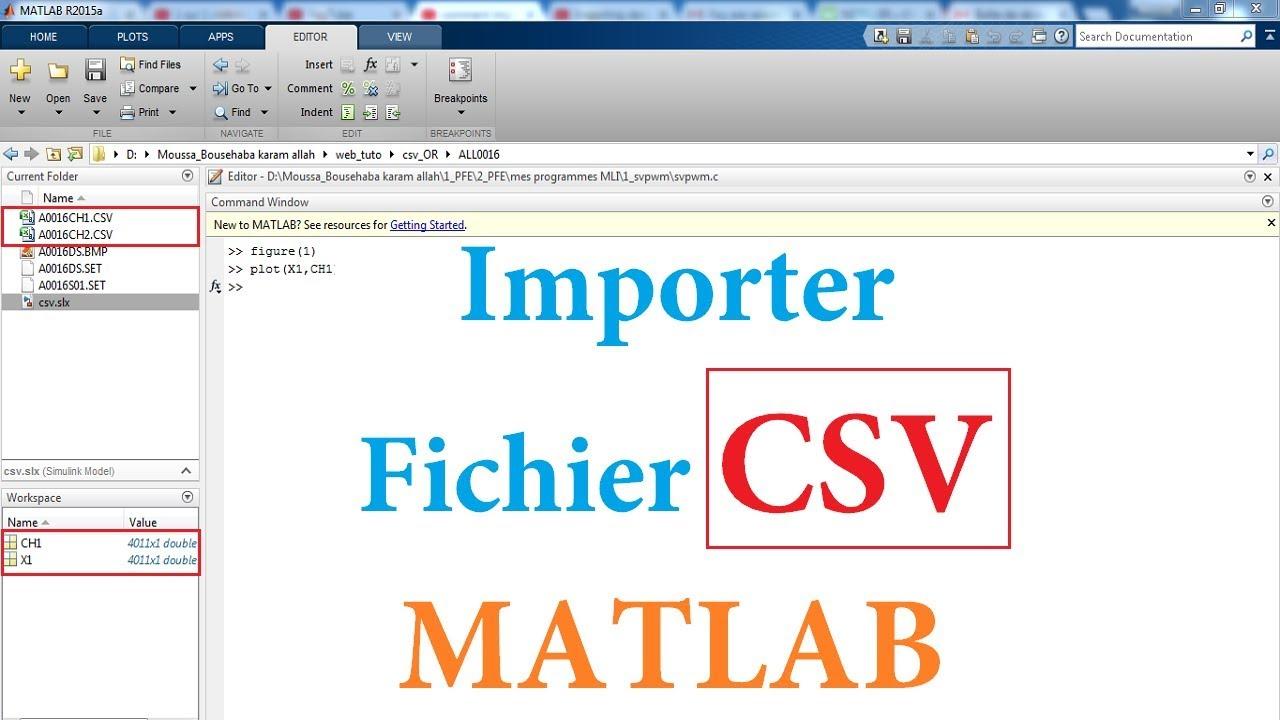 comment importer un fichier csv dans matlab    simulink