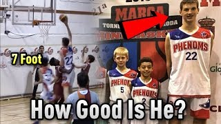 How GOOD Is 7 FOOT Tall 12 Year Old Olivier Rioux ACTUALLY? | Is He An NBA Prospect?