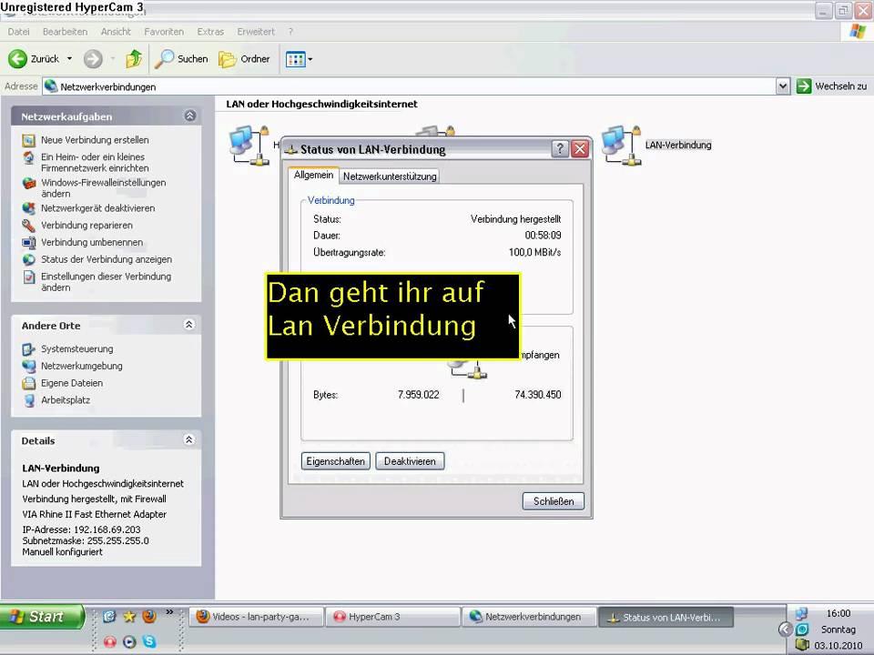 Lan party einrichten windows xp - YouTube