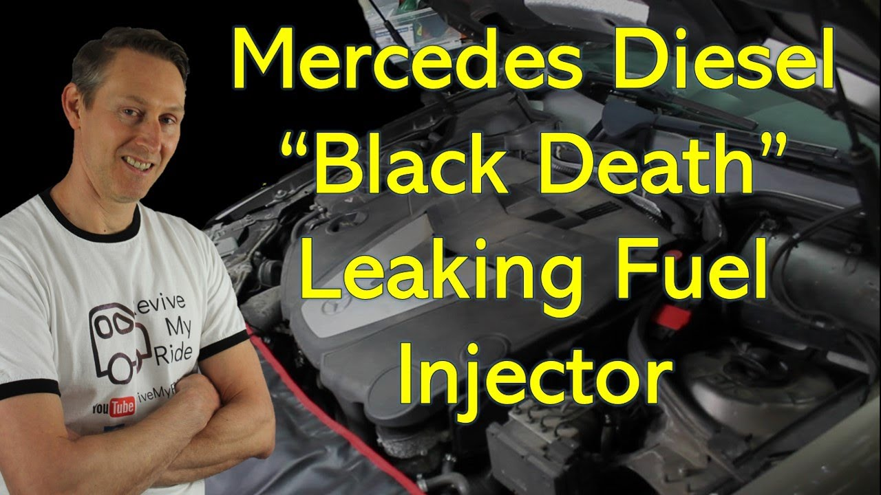 Mercedes diesel CDI (Black Death) leaking fuel injector - How to diagnose  and fix on 3 0 V6 engine