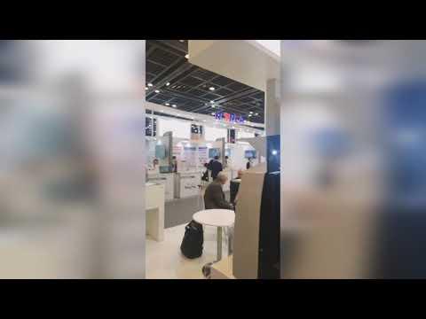 Medlab Middle East, Dubai, UAE - Trade Show at  Dubai International Convention & Exhibition Centre.