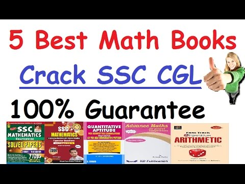 5 Best Books For SSC CGL(Math Books) Suggested By Selected Candidates In  SSC CGL -Crack Exam 100%