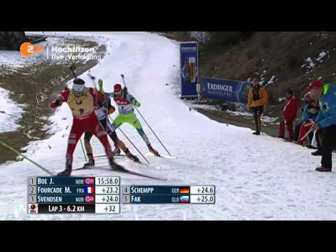 14.12.2014 Biathlon Hochfilzen Verfolgung Herren Winner Martin Fourcade(full)