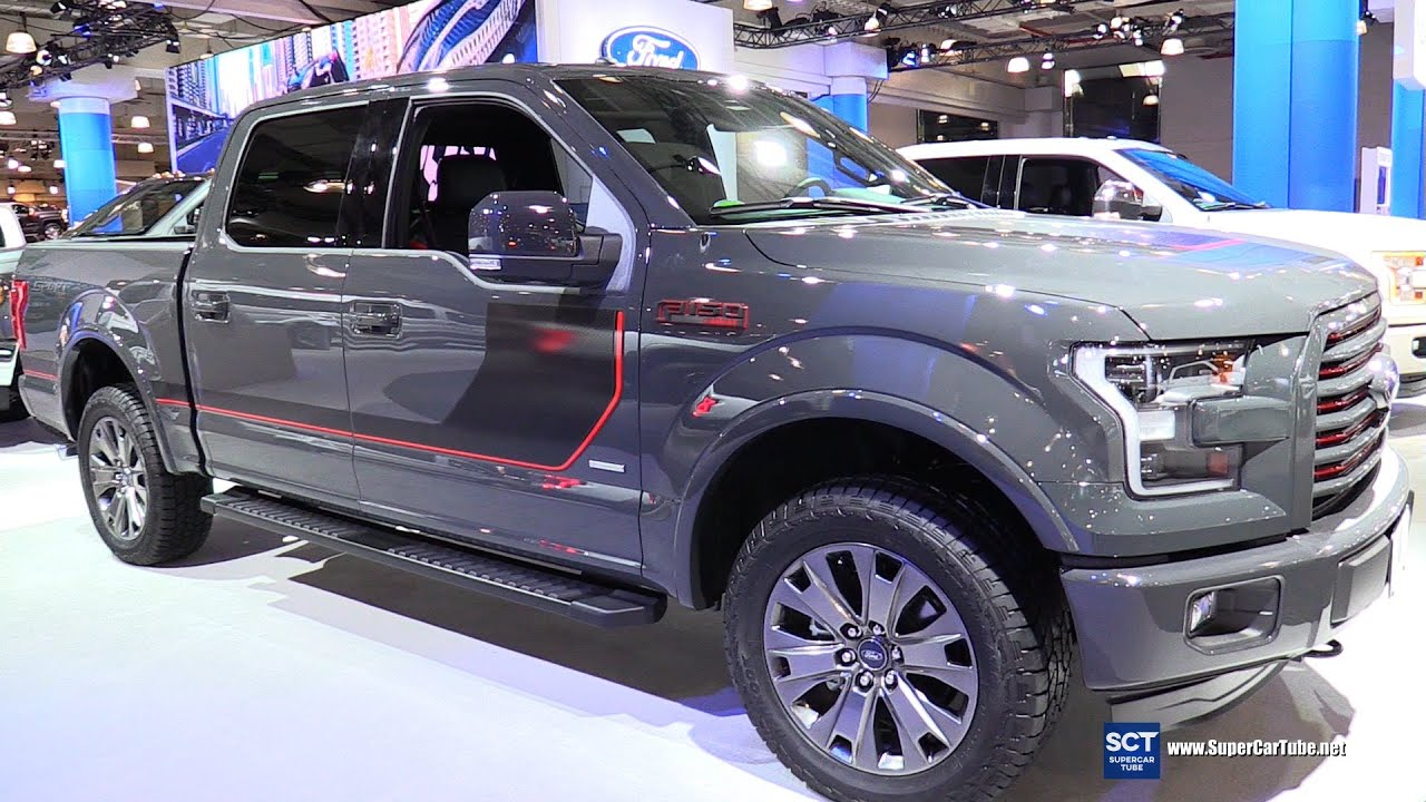2016 ford f 150 supercrew sport limited 4x4 exterior interior walkaround 2016 new york auto. Black Bedroom Furniture Sets. Home Design Ideas