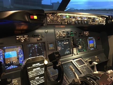 Boeing 737 simulator at Flight Experience KL Pavilion Mall|
