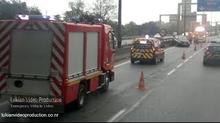 French Fire Department - Accident sur l'autoroute // Car accident in France
