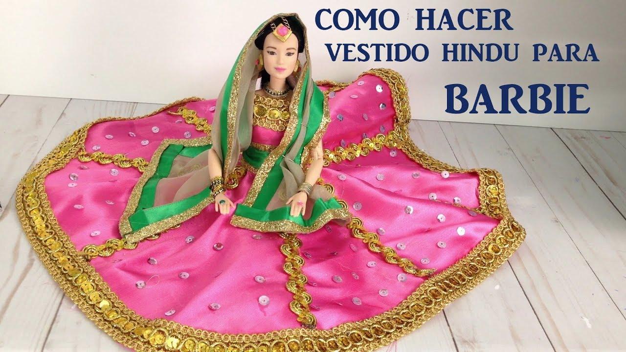 Como hacer vestido de inspiracion Hindu para Barbie
