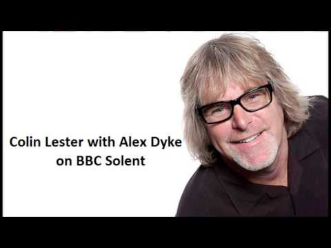 Colin Lester with Alex Dyke at BBC Solent