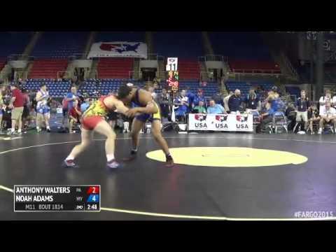 182 Quarterfinal  Noah Adams West Virginia vs. Anthony Walters Pennsylvania