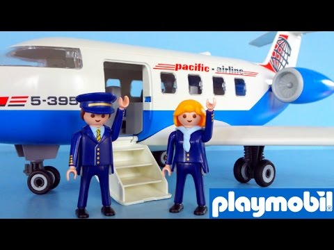 Playmobil Airplane 5395 Charter Airline unboxing and playing | Playmobil Vliegtuig uitpakken