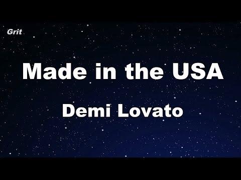 Made in the USA - Demi Lovato Karaoke 【No Guide Melody】 Instrumental