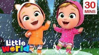 Rain Rain Go Away With Nina And Nico + More Kids Songs & Nursery Rhymes by Little World