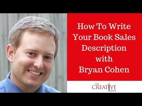 How To Write Your Book Sales Description With Bryan Cohen
