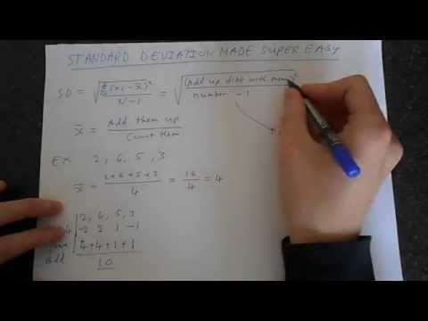 Standard Deviation Made Super Easy