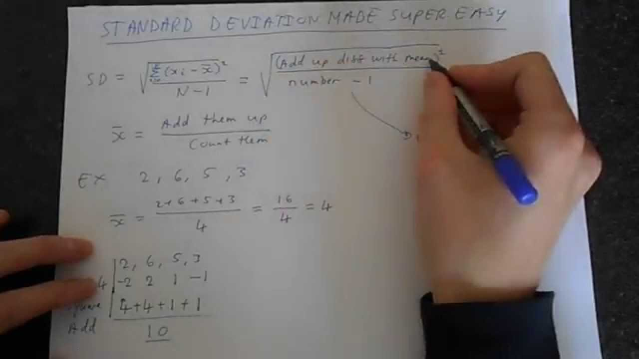 Standard Deviation Made Super Easy Youtube