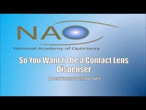 So You Want to be a Contact Lens Dispenser