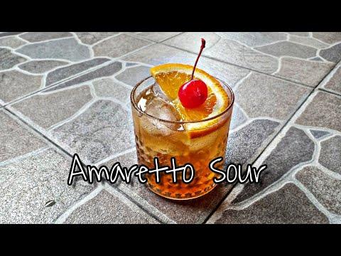 วิธีทำค็อกเทล Amaretto Sour ง่ายๆ