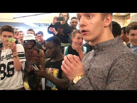 EPIC High School RAP BATTLE- Kid gets DESTROYED