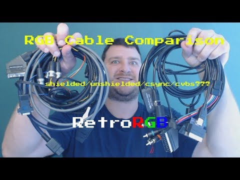 RGB SCART Cables:  Shielded vs Unshielded