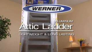 Werner Aluminum Attic Ladder - Gas Struts